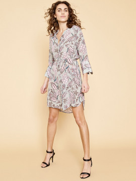 Mos Mosh Elaine vita dress - Sage green print