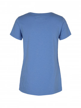Mos Mosh Arden V-neck tee S/S - Allure blue