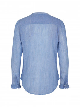 Mos Mosh Mattie crepe shirt - Light blue
