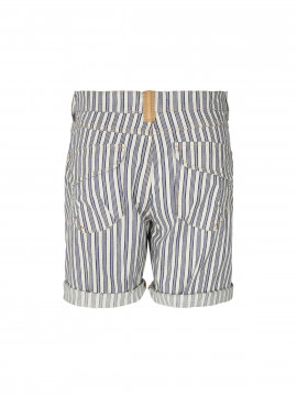 Mos Mosh Valerine stripe shorts - Navy stripe