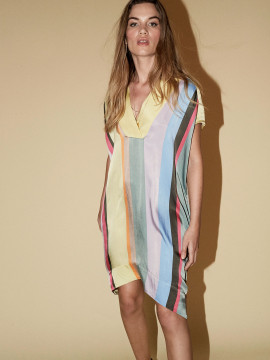 Mos Mosh Seeds clavo dress - Multi stripe