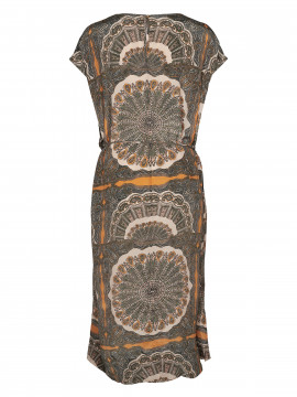 Mos Mosh Sema scarf dress - Apricot buff print