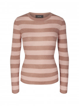 Mos Mosh Hetty stripe knit - Vintage rose