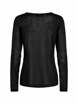 Mos Mosh Casio V-neck L/S Tee - Black