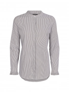 Mos Mosh Mattie stripe shirt - Coffee bean stripe