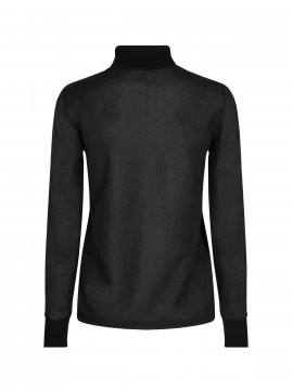 Mos Mosh Casio L/S Roll-neck - Black