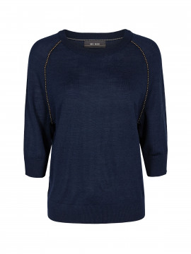 Mos Mosh  Winta O-neck knit - Mood indigo