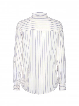 Mos Mosh Kayla Fine Stripe shirt - Dark blue