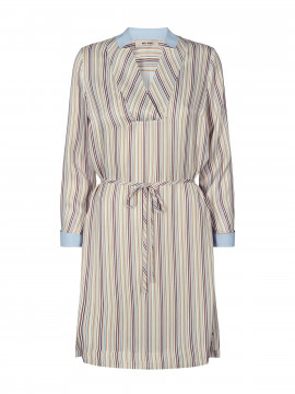Mos Mosh Lipa river dress - Light blue stripe