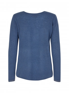 Mos Mosh Sophia O-neck cashmere knit - Dark blue