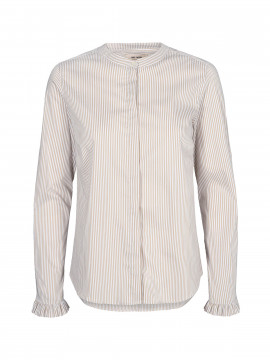 Mos Mosh Mattie stripe shirt - Safari stripe