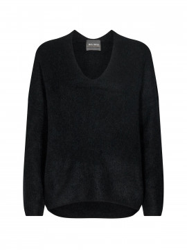 Mos Mosh Thora V-neck knit - Black