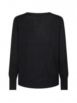 Mos Mosh Vinette O-neck knit - Black