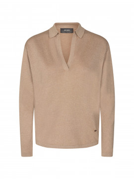Mos Mosh Wylie lurex knit - Pebble
