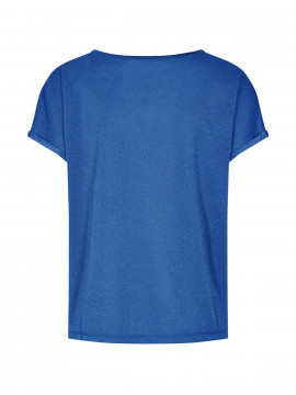 Mos Mosh Kay S/S o-neck tee - True blue