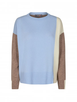 Mos Mosh Layla O-neck knit - Bel air blue