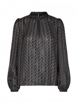 Mos Mosh Kana tile L/S top - Black