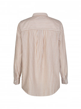 Mos Mosh Karli stripe shirt - Toasted coconut