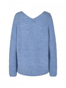 Mos Mosh Thora V-neck knit - Bel air blue