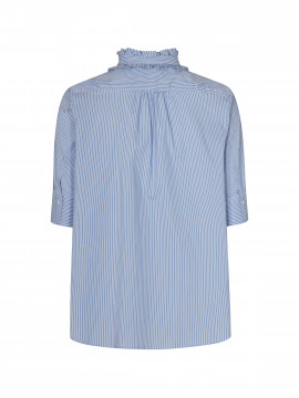 Mos Mosh Lina frill shirt - Bel air blue