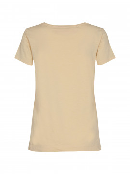Mos Mosh Arden organic V-neck tee - Charmomile
