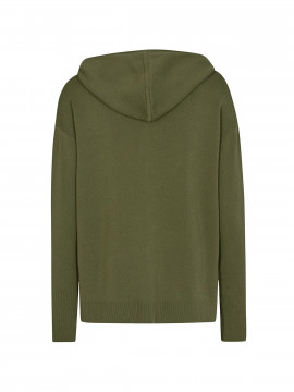 Mos Mosh Robyn hooded knit cardigan - Winter moss