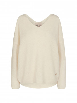Mos Mosh Thora V-neck knit - Ecru