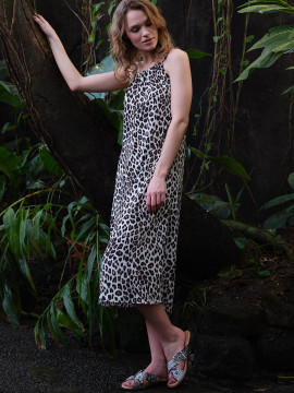 Prepair Gudrun leo dress - Off white