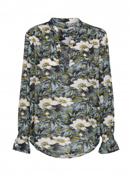 Costamani Rebecca L/S top - White flower