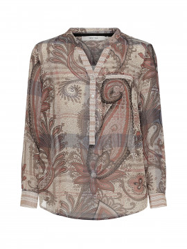 Costamani Astrid paisley top - Taupe