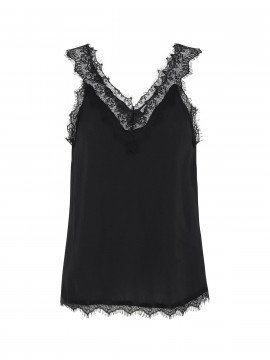 Costamani Moneypenny lace top - Black