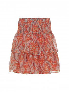 Costamani Skotty short skirt - Coral leaves