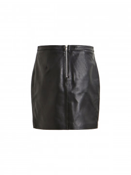 Object Chloe leather skirt - Black