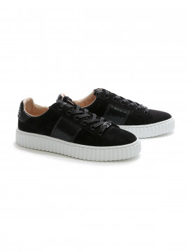 Philip Hog Mia suede sneakers - Black