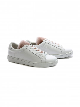 Philip Hog Wilma leather sneakers - White / rose