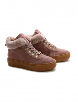 Philip Hog Alma suede boot - Winter rose
