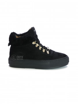 Philip Hog Alma suede boot - Black / black