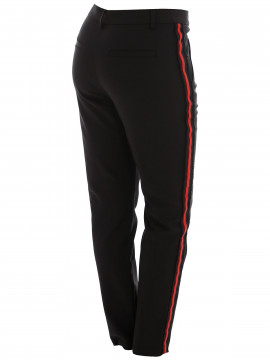 CS#15 Shane pant - Black w/ red stripe