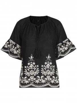 CS#15 Sulle boheme top - Black