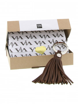 Via Vai Tender Key hanger - Brown