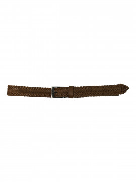 Black Colour Braid belt 3 cm. - Natural