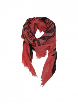 Black Colour Keltric scarf - Rosered