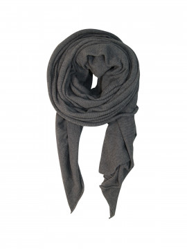 Black Colour Billi knit scarf - Grey