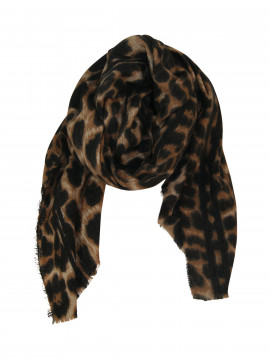 Black Colour Flavian leo scarf - Brown