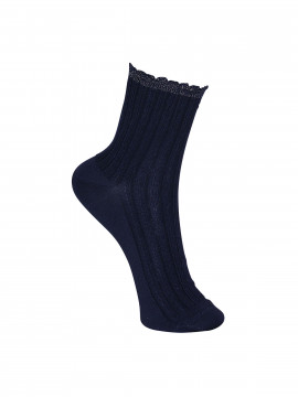 Black Colour Chic sock - Navy