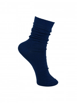 Black Colour Lurex sock - Blue