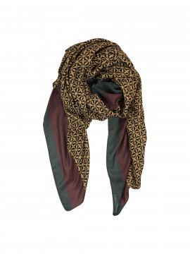 Black Colour Palazzo scarf - Curry