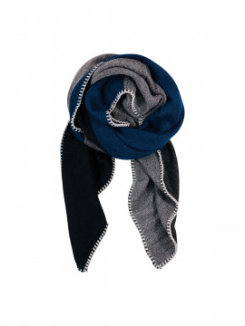 Black Colour Gaucho scarf - navygrey