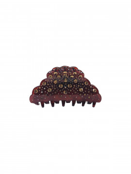 Black Colour Throne hairclip - Brown