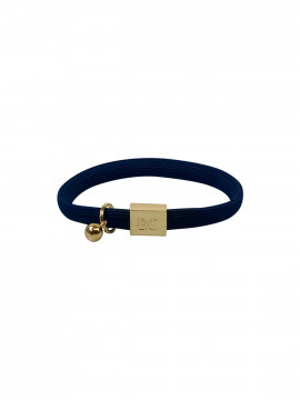 Black Colour Elastic 2in1 hairbracelet - Navy